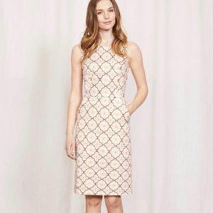 Boden   'Talia' Print Midi Sheath Dress